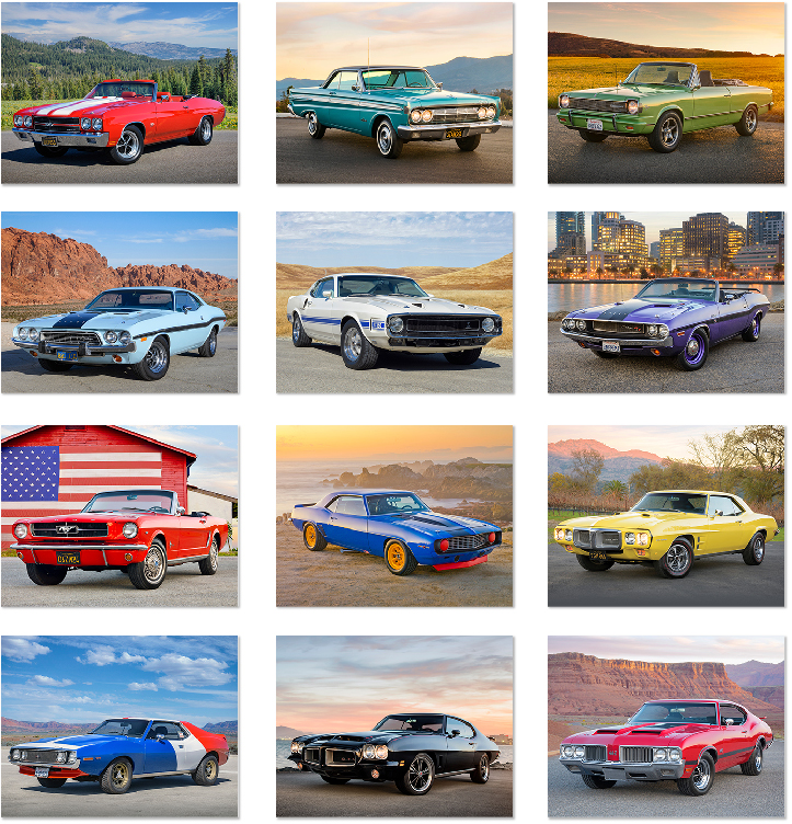 Custom Imprinted Calendar - Muscle Cars #2701