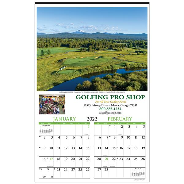 Custom Golf 2-Month Calendar