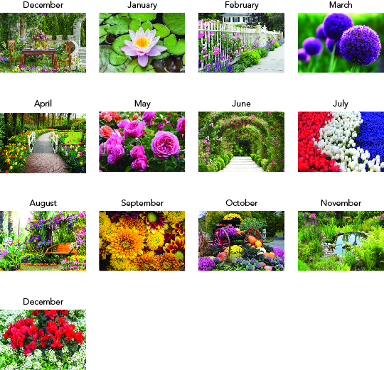 Custom Imprinted Calendar - Garden Splendor Stapled #3095