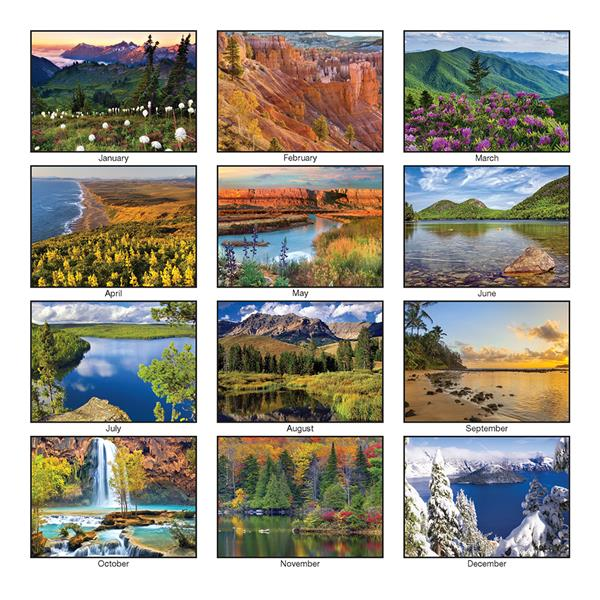 Custom Imprinted Calendar - Panorama Executive Wall Calendar #634