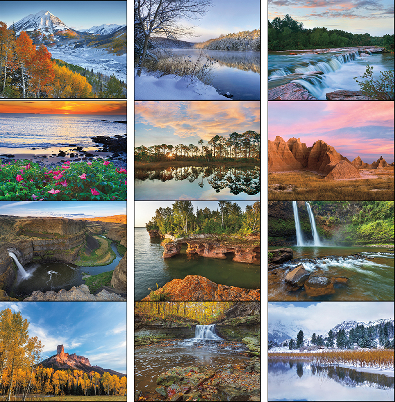 Custom Imprinted Calendar - Landscapes of America #7201